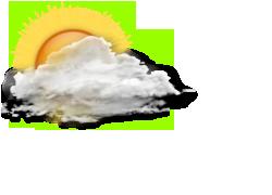 Deels bewolkt